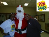 Doughboy and Michelle C with JAMZ Santa